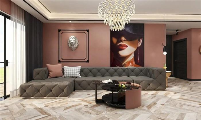 纯色墙漆搭配装饰部件