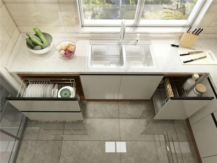 厨房台面功能区域规划